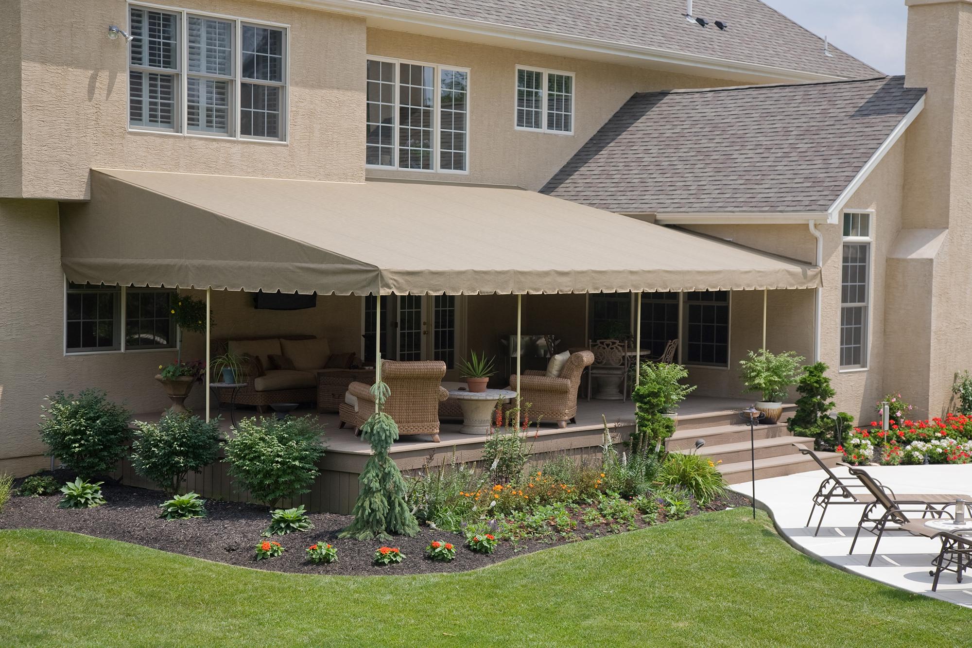 deck canopy stationary canopies   kreideru0027s canvas service, inc. IAYGSIF