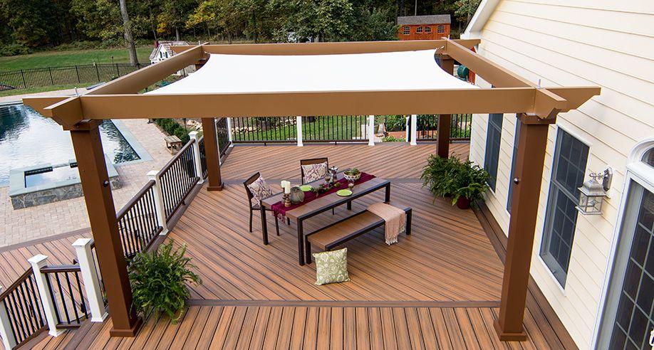 deck canopy tensioned shade sail pergola canopy our tensioned shade sail canopy  provides RPGGRAT