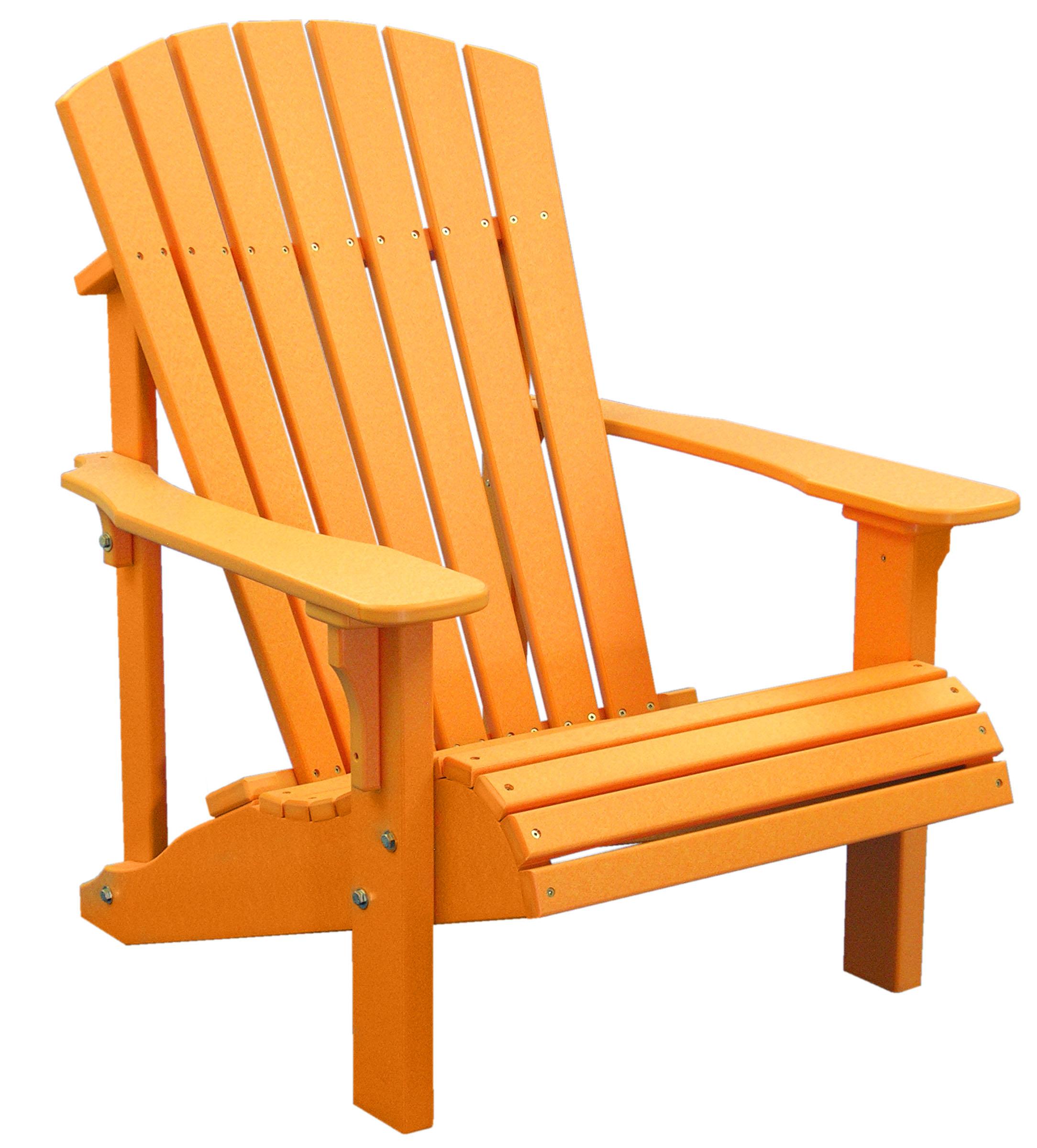deck chairs deluxe-adirondack-chair-tangerine NXNIRZN