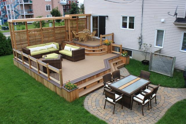 deck ideas traditional deck UGFAJCX