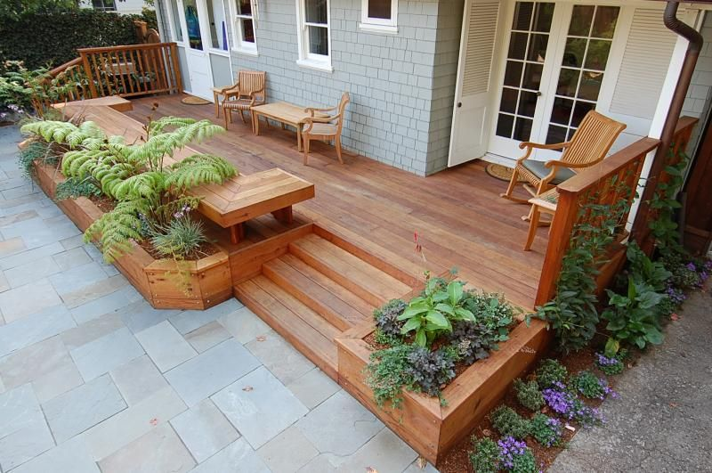 deck planters planters as deck borders | ... decking-benches and planters built by deck YUMKRTE