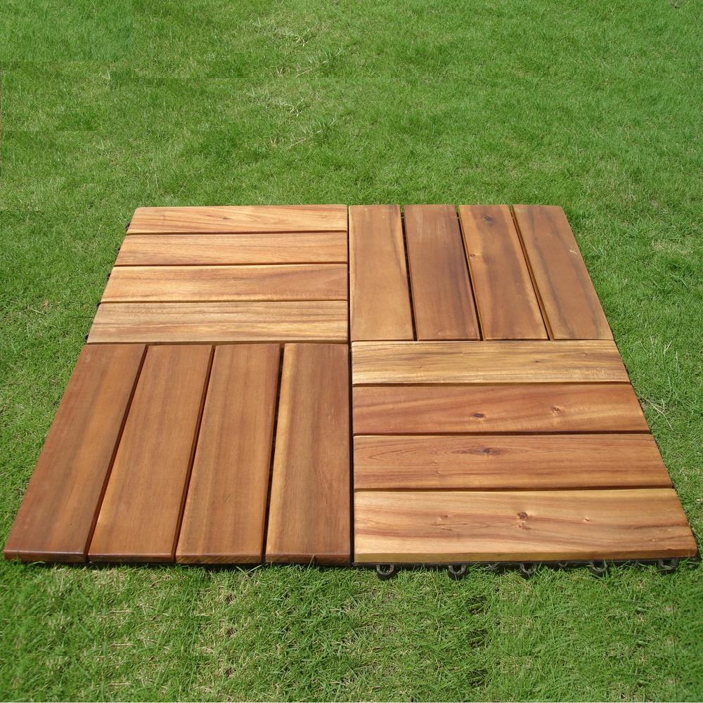 deck tiles wood outdoor balcony deck JZBRUZV