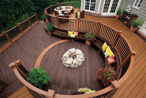 decking designs earthy brown tone RWTYQGC