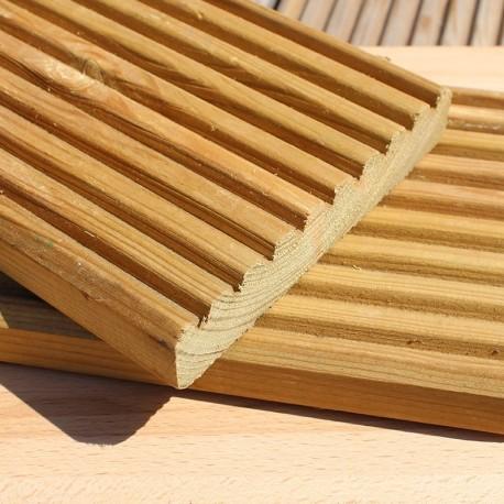 decking wood green treated swedish redwood pine decking GMVVSNE