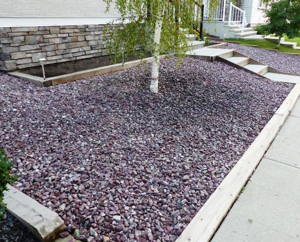 decorative landscaping rocks front yard KTWRNIV