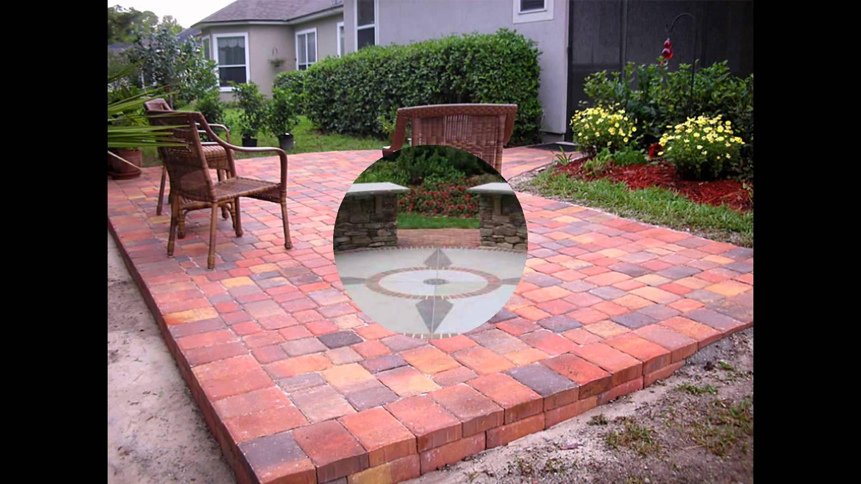 diy brick patio QPMRTAG