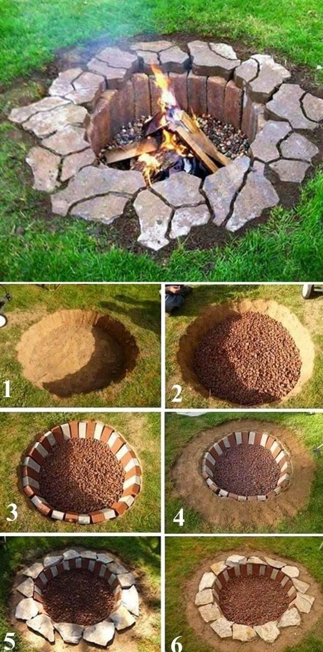 diy garden ideas rustic diy fire pit, diy backyard projects and garden ideas, backyard diy BZDYBTG