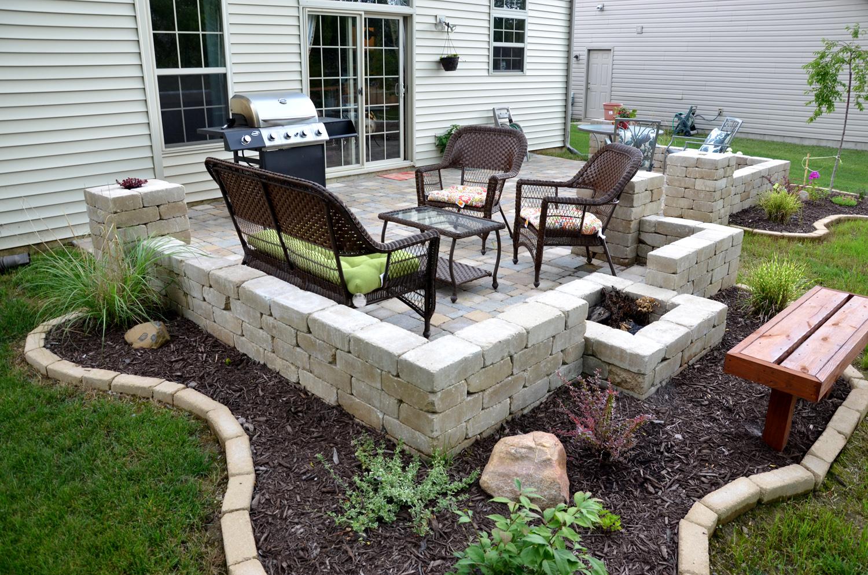 diy patio diy backyard stone paver patio tutorial AIAZGFP