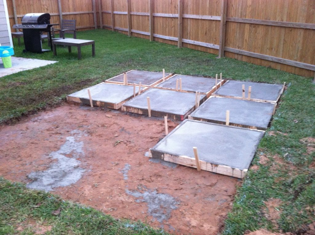 diy patio diy patios on a budget | and then on day two, they AMUMMTC