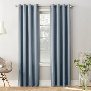 drapes and curtains groton solid room darkening grommet single curtain panel WEEWOPU