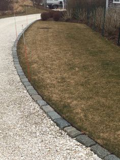 driveway edging imagini pentru large stepping stones in gravel lined with belgian blocks. driveway JMCYGET