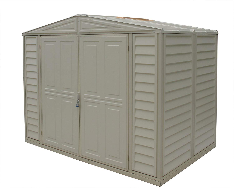 duramax sheds amazon.com : duramax model 00111 8x6 duramate vinyl storage shed : garden STPDBDJ