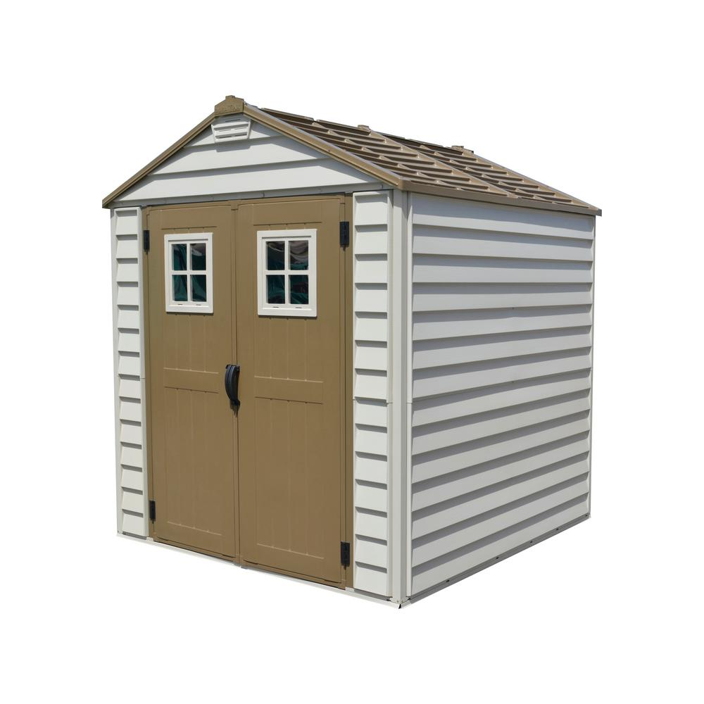 duramax sheds duramax building products storemax 7 ft. x 7 ft. vinyl storage shed SGJPUES