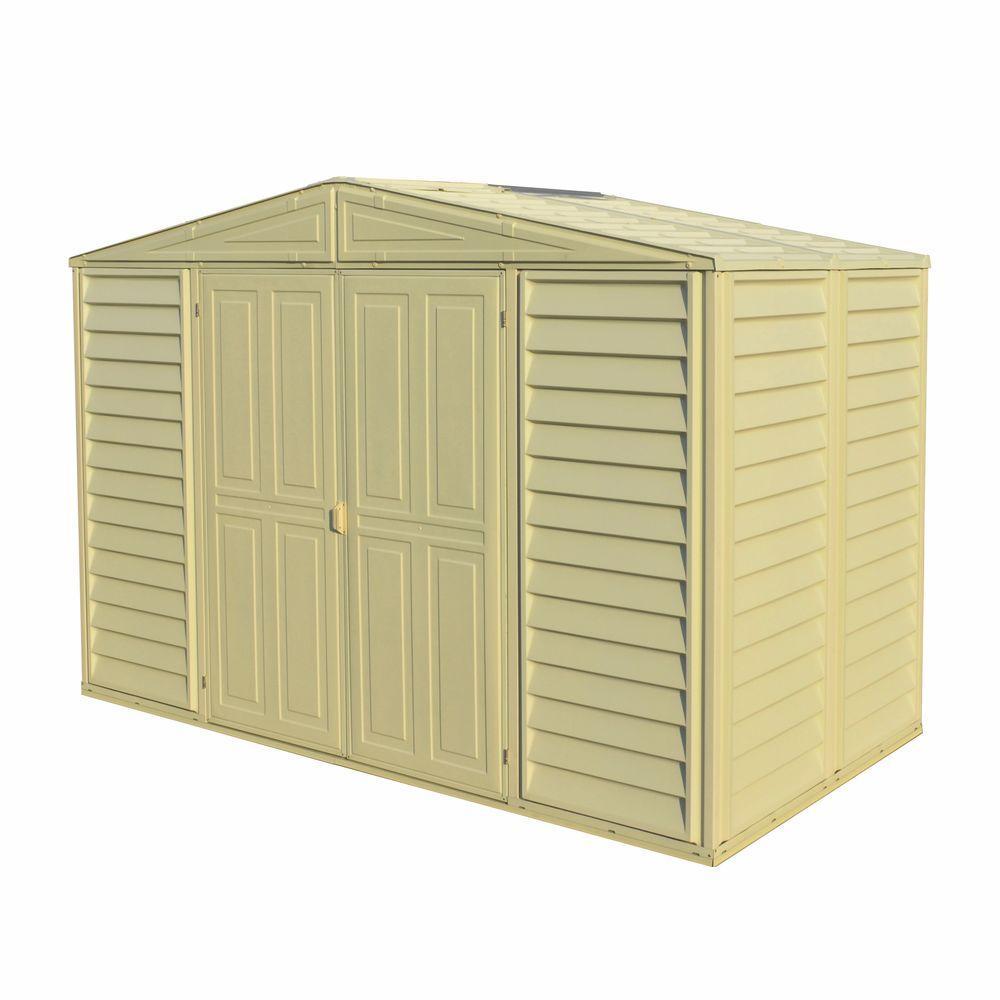 duramax sheds duramax building products woodbridge 10.5 ft. x 5 ft. plastic vinyl shed HIRFHXQ