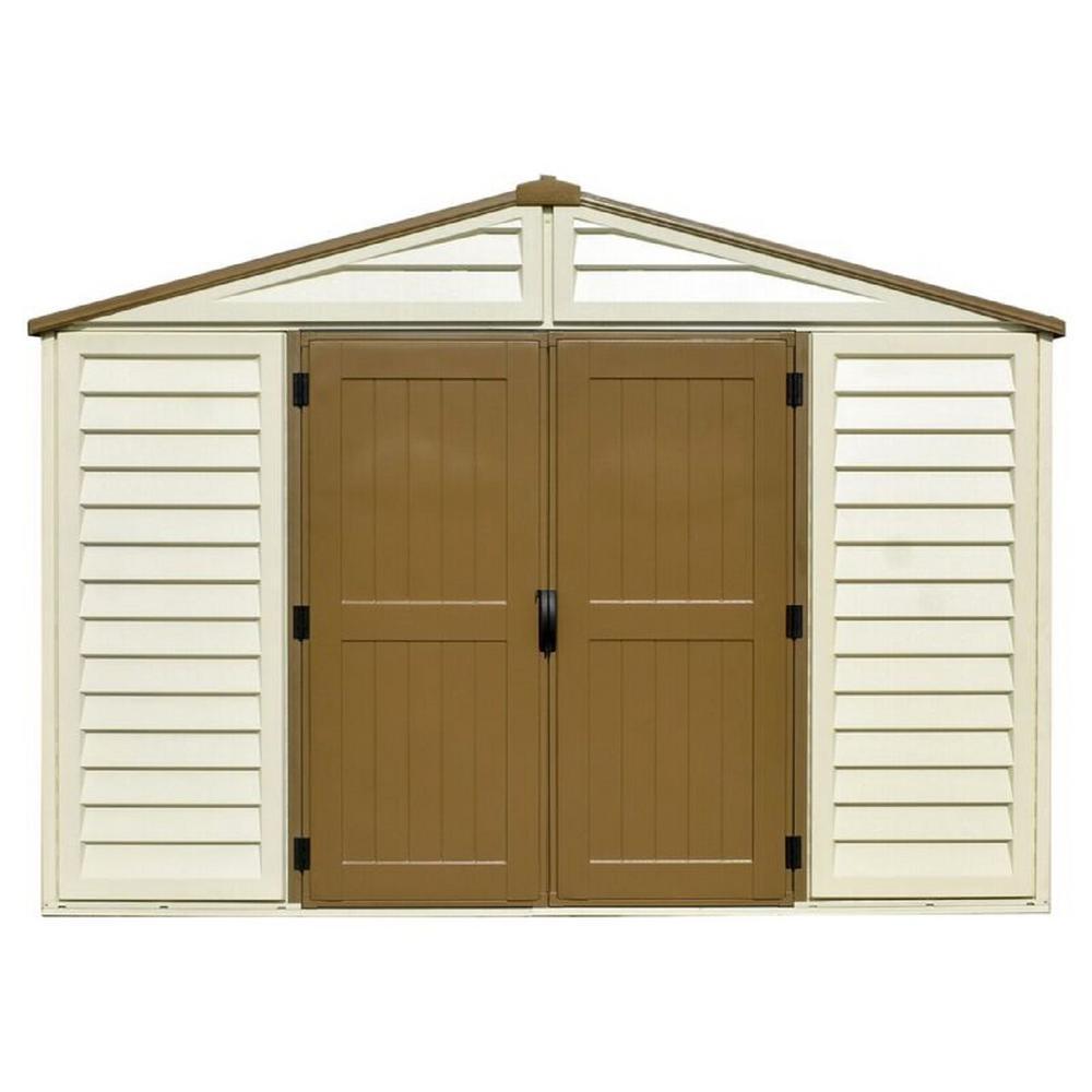 duramax sheds duramax building products woodbridge plus 10.5 ft. x 8 ft. vinyl storage TPAYRBQ
