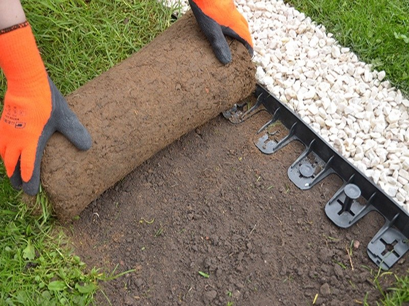 ecogrid black 60mm flexible garden edging XZSQYXI