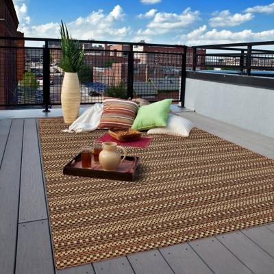 edgeman rectangle patio rug - black / natural - balta rugs : SGOBYEF