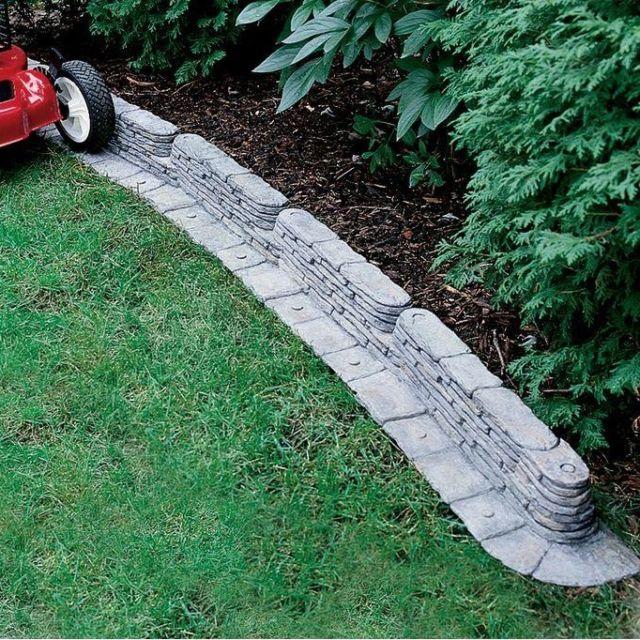 emsco 20-feet bedrocks trimfree resin slate lawn edging/ fencing/ border,  2032ds TVZHQTY