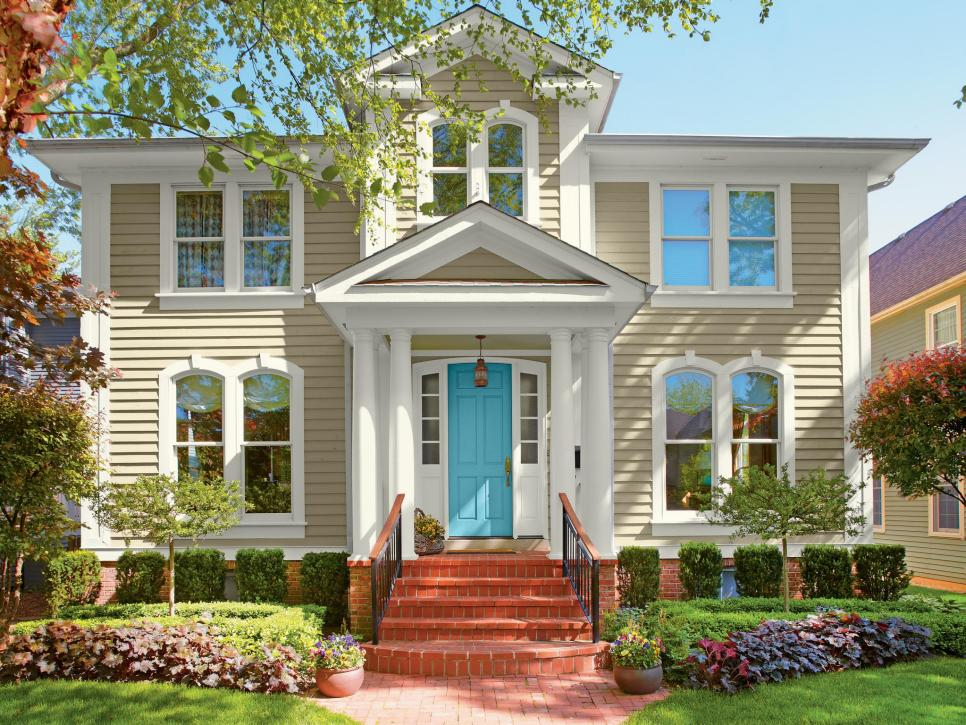 exterior house colors 28 inviting home exterior color ideas | hgtv ZQNIWTL