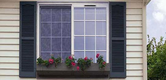 exterior window shutters on a house WFOFXPI