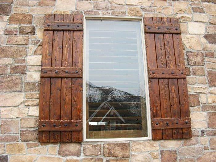 exterior wood shutters | decorative, provide privacy u0026 safety VQEJKJM