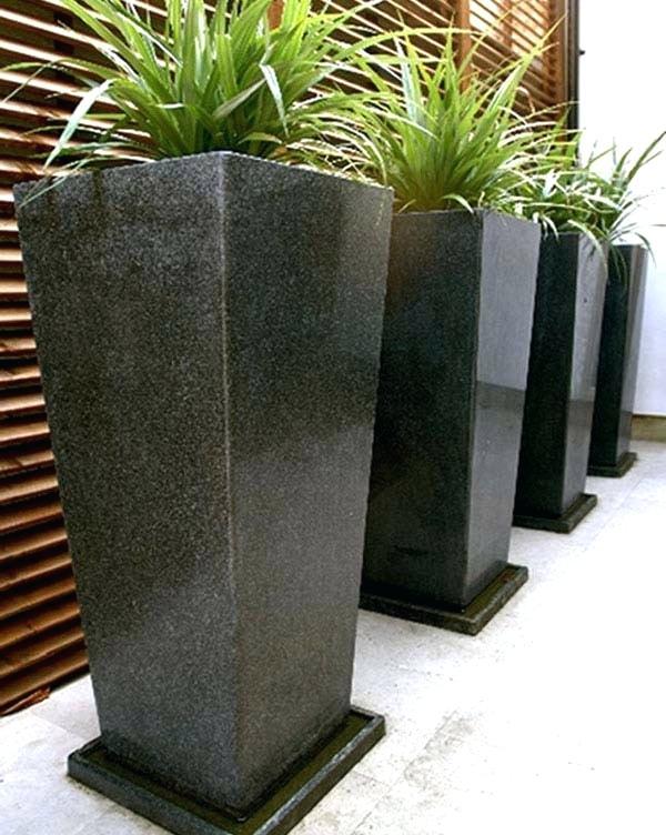 extra large garden pots granite planter tray 2 extra large planter pots NVOREKX