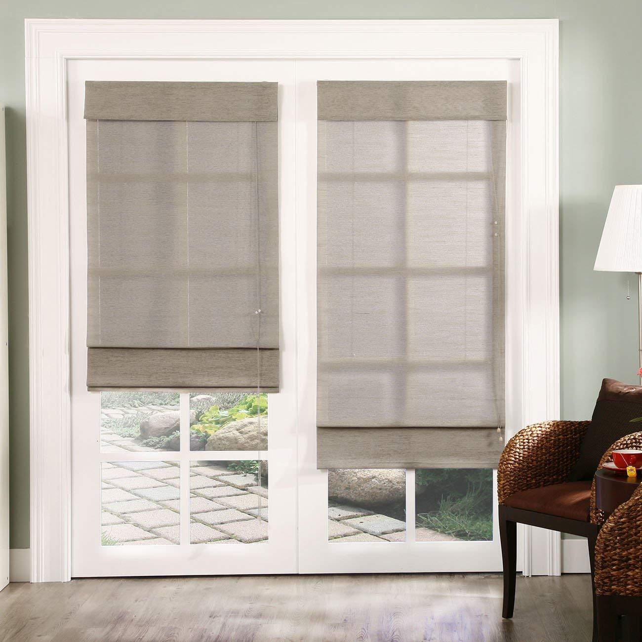 fabric shades amazon.com: chicology standard cord lift roman shades jute fabric window  blind DMXLIBS
