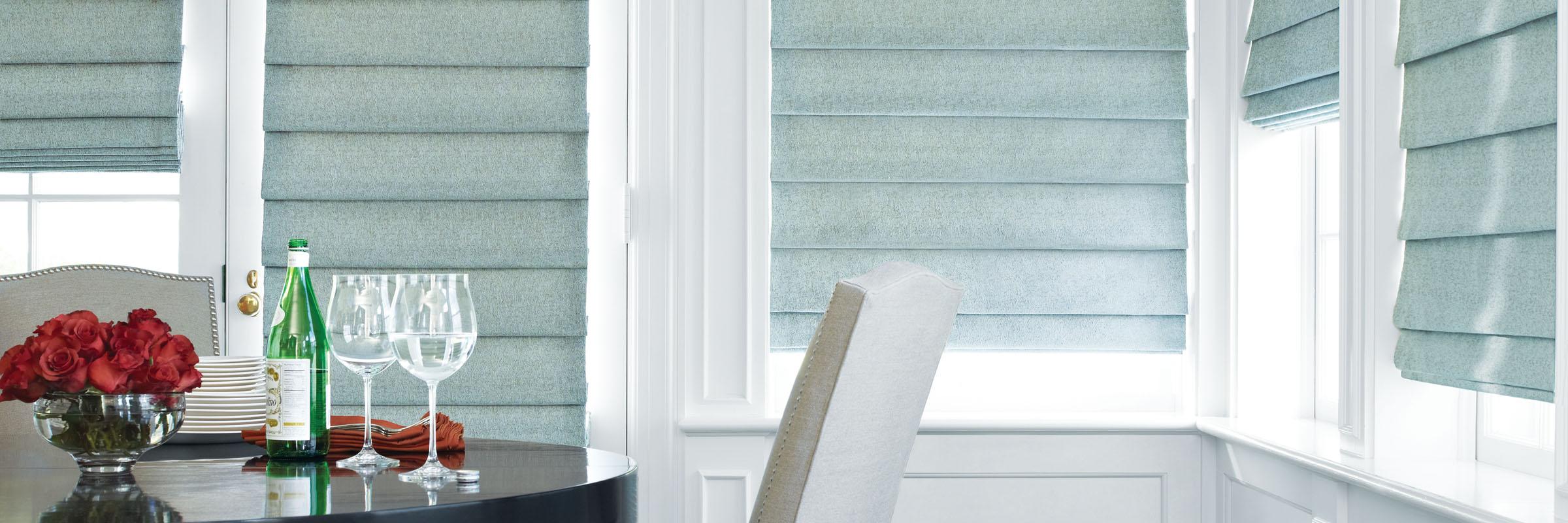 fabric shades fabric roman shades in dreamweaver fountain - design studio ... PTECGBP