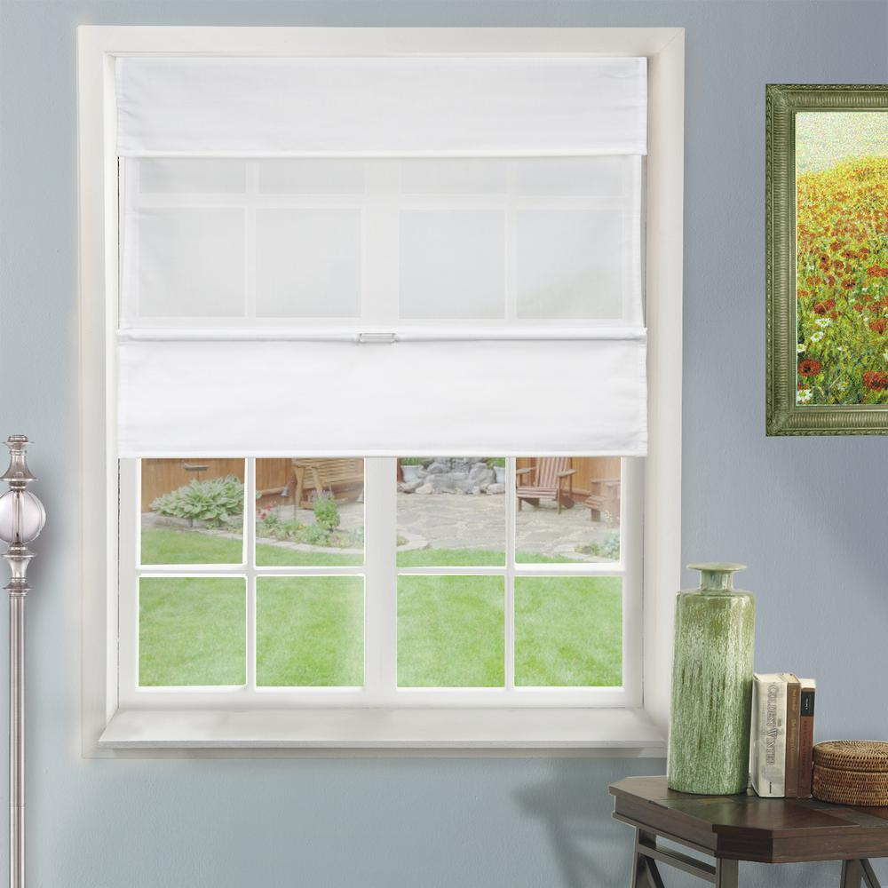 fabric shades l daily white light filtering horizontal fabric CROBMEY