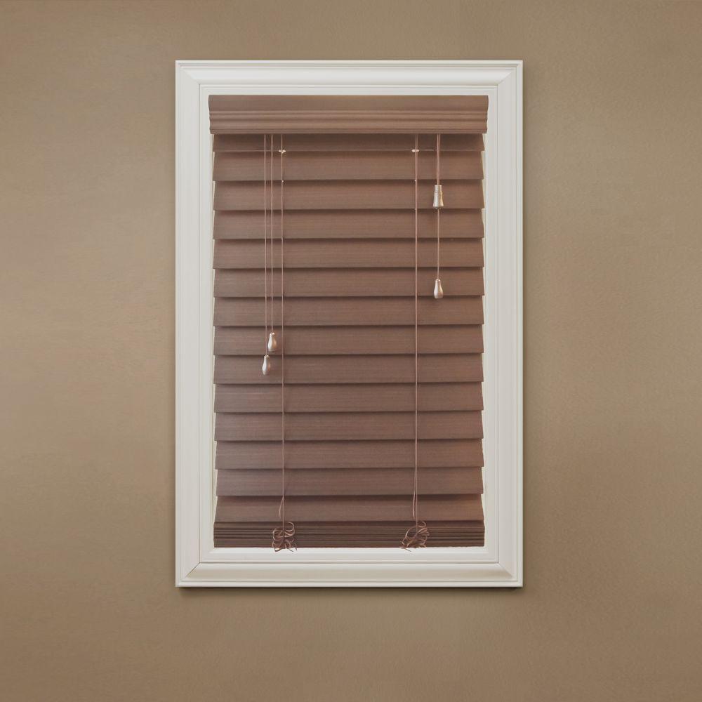 faux blinds home decorators collection maple 2-1/2 in. premium faux wood blind - TIJXFOS