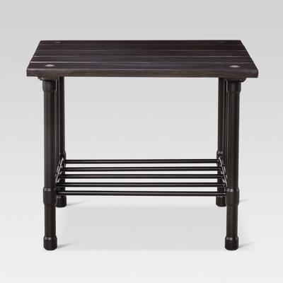 fernhill metal square patio side table - black - threshold™ DGJYPNM