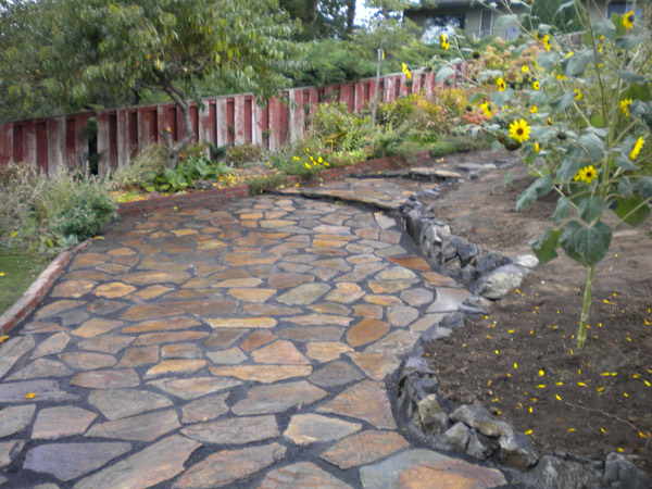 flagstone pavers mclaughlin landscaping BBNJNGX