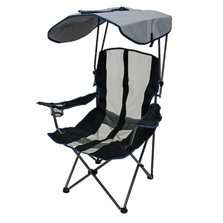 folding chair with canopy original canopy chair - navy and gray FAKRPQV