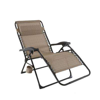 folding lawn chairs mix and match oversized zero gravity sling outdoor chaise lounge chair in LEQUBKP