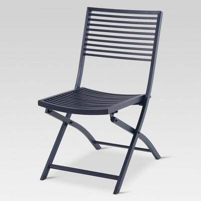 folding outdoor chairs aluminum slat folding patio bistro chair - project 62™ : target VVBEXMR