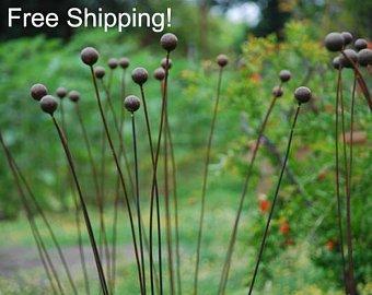 free shiping - kinetic metal garden art sculpture grouping of 7 GJTXHTV