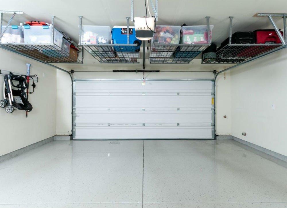 garage storage use ceiling-mount racks UNYCTER