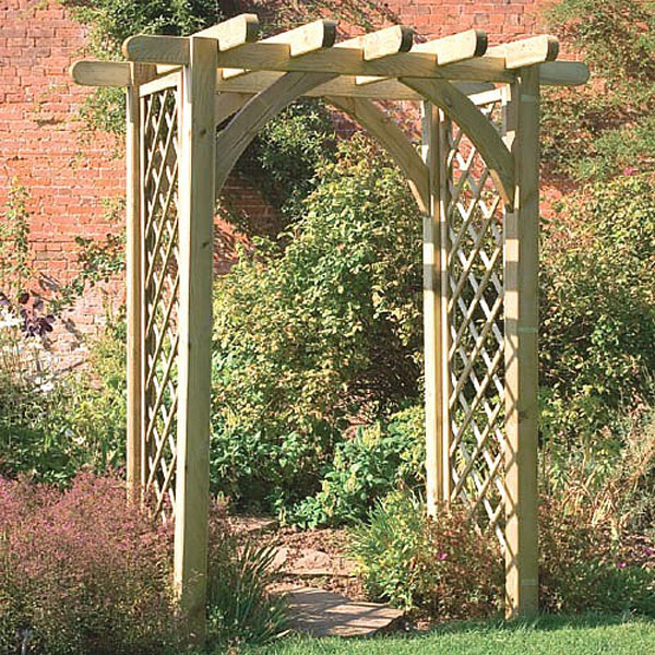 garden arches ultima pergola arch with trellis PINZBLO