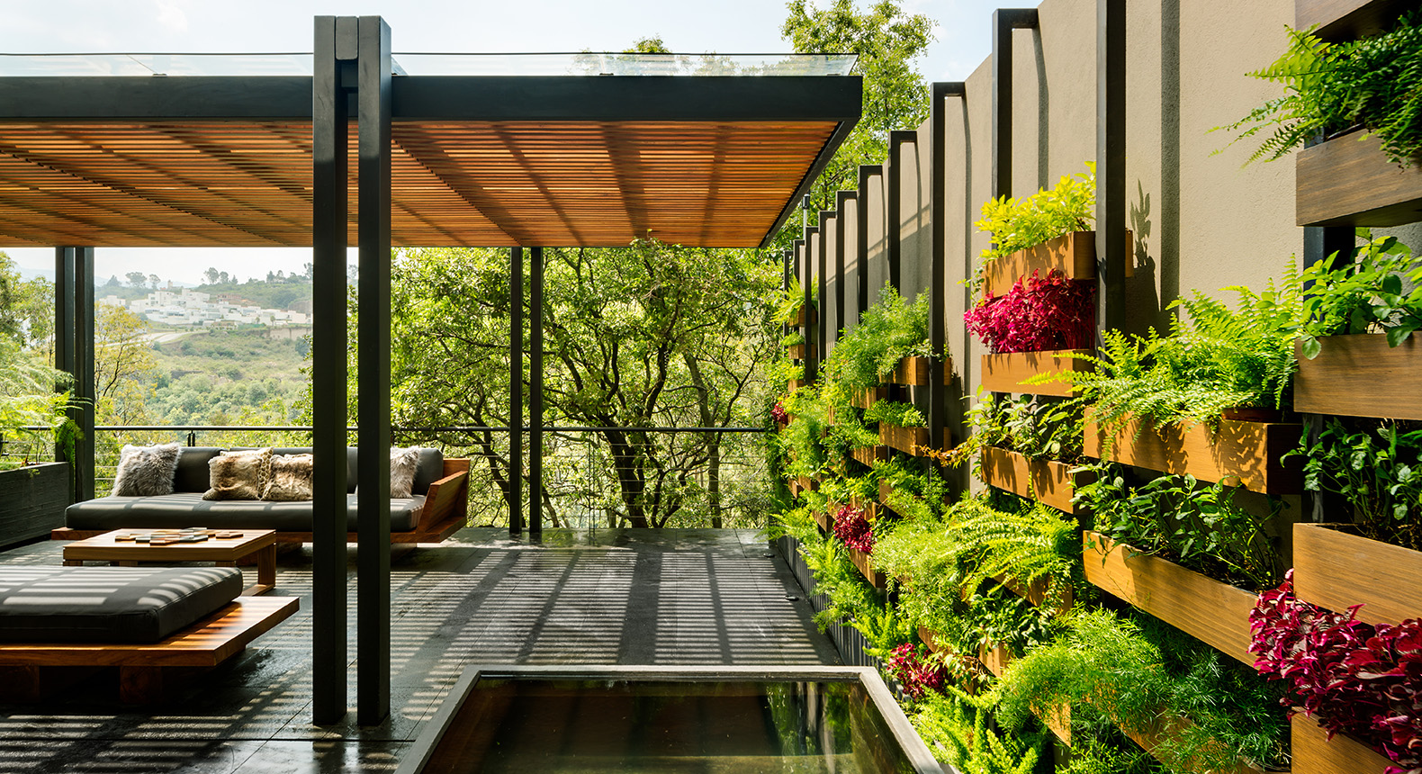 garden architecture this mexico city home is built around a gorgeous vertical garden PHNJYJG