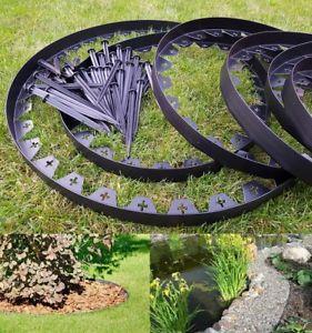 garden border edging image is loading garden-lawn-edging-flexible-plastic-garden-border-10m- GXPUBLC