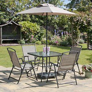 garden chairs image is loading oasis-patio-set-outdoor-garden-furniture-7-piece- SAEYLJO