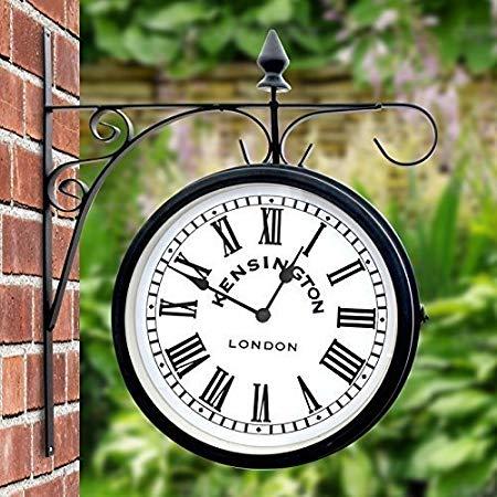 garden clock outdoor garden kensington station outside bracket wall clock 25cm double  sided NGVQEPB