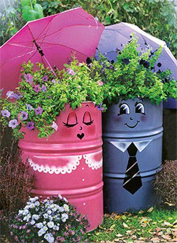 garden decoration garden-decorations-recycling-ideas-backyard-decorating (2) BFRXNVH