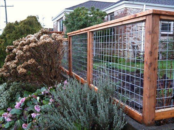 garden fence ideas more wood frame wire fence ideas: SEHVTDZ