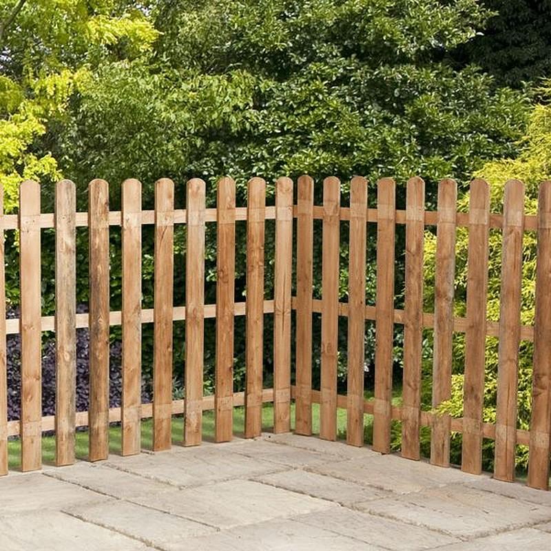 garden fencing panels click image to enlarge 4ft x 6ft waltons picket round top garden EHIIXHA