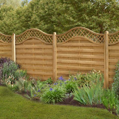 garden fencing panels forest paloma panel 1.5m high (europa prague) QIGJWSA