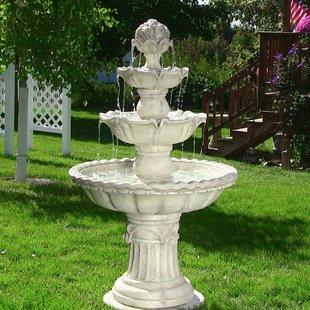 garden fountains dunkle fiberglass 4-tier electric water fountain SSOIBYE