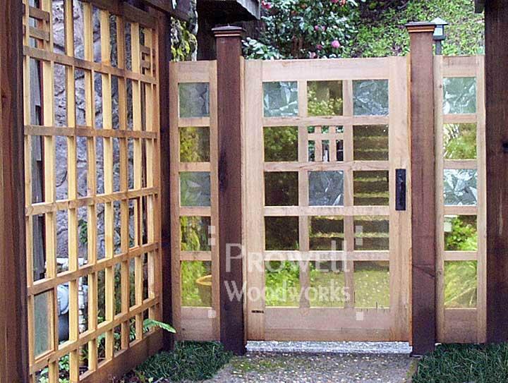 garden gates custom wood garden gate #97 in ross, ca AEYSJJG