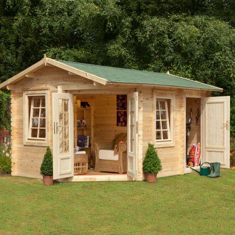 garden log cabins 9x13 34mm berkshire renwick log cabin XPFOKXY