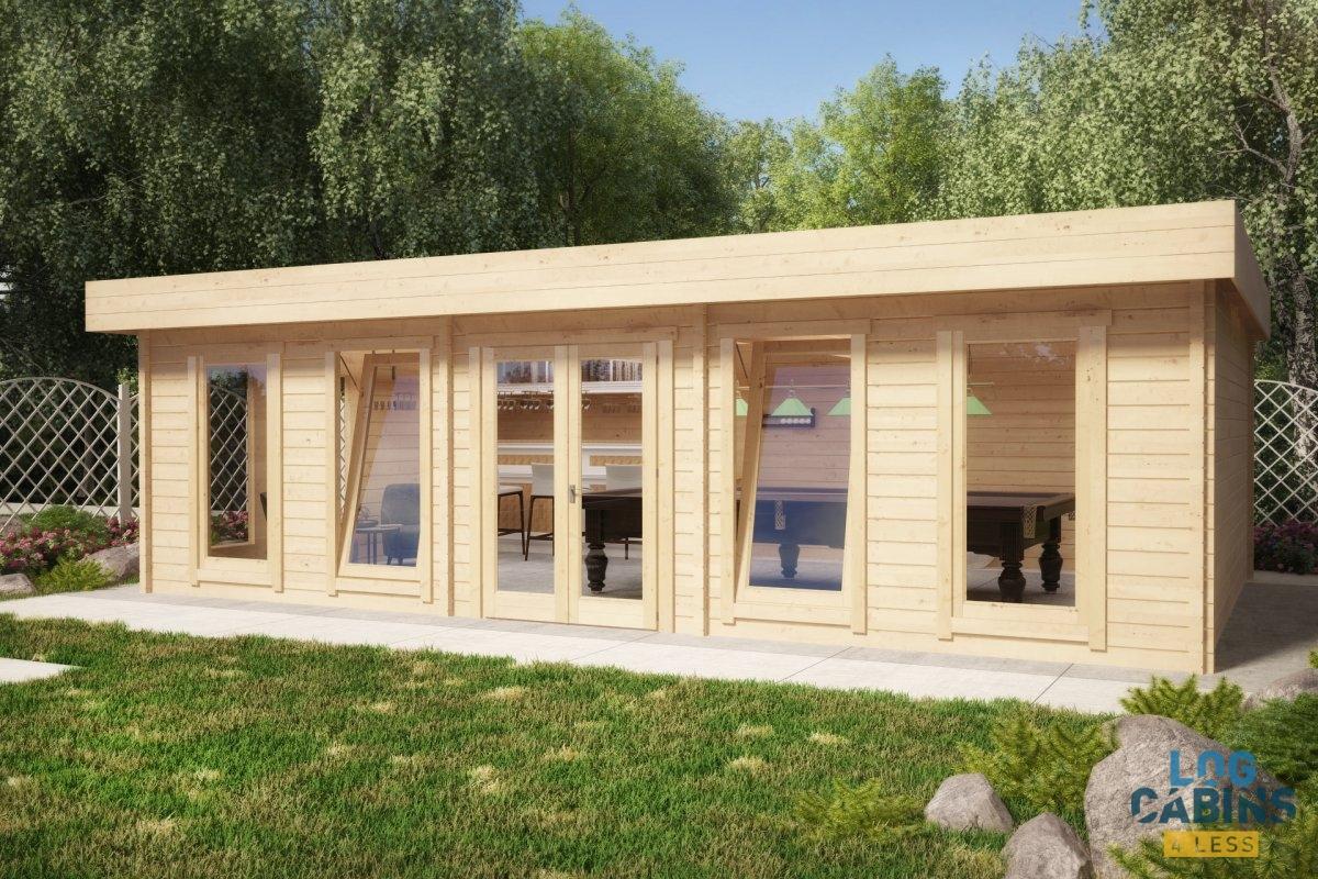 garden log cabins garden-room-bcorner-b VHDZMEX